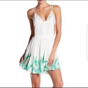 Free People Tropical Oasis Mini Jumper Dress